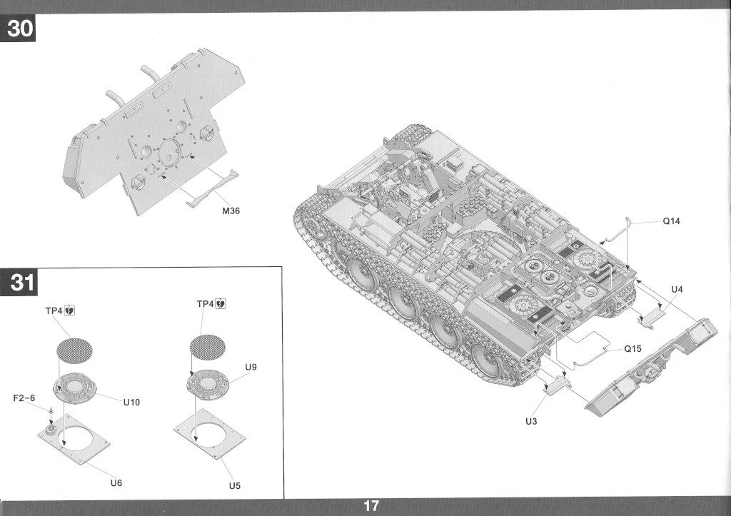 Anleitung18-1-1024x723 Panther Ausf. D Late Prod. Sd. Kfz. 171 w. Zimmerit Full Interior 1:35 Takom #2104