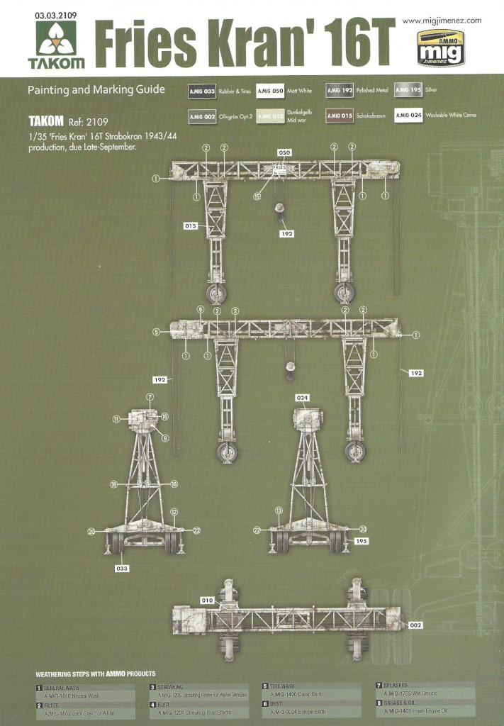 Anleitung20 Fries Kran 16t Strabokran 1943/1944 Production 1:35 Takom (#2109)
