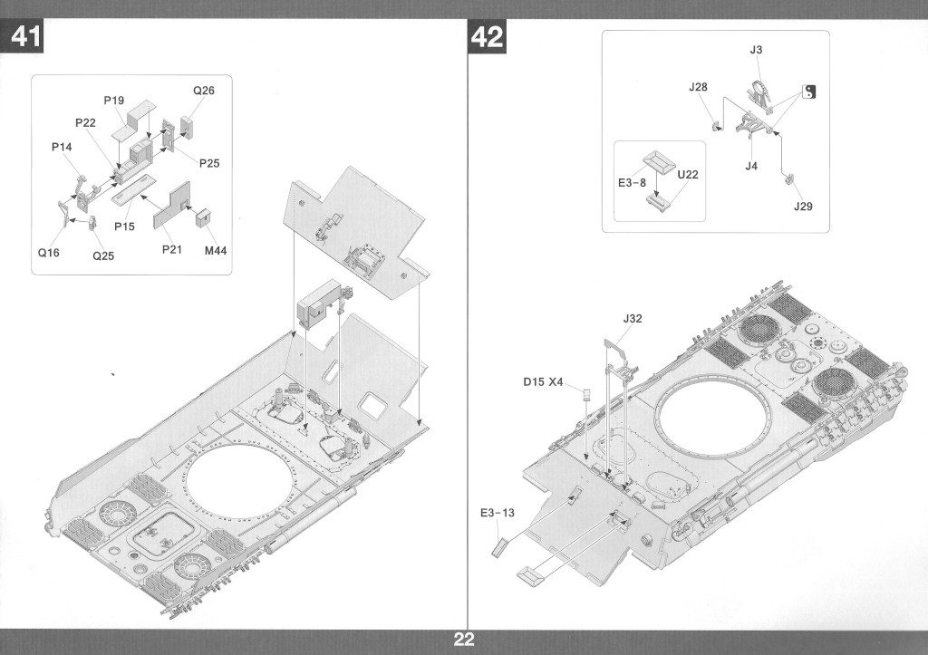 Anleitung23-1024x723 Panther Ausf. D Late Prod. Sd. Kfz. 171 w. Zimmerit Full Interior 1:35 Takom #2104