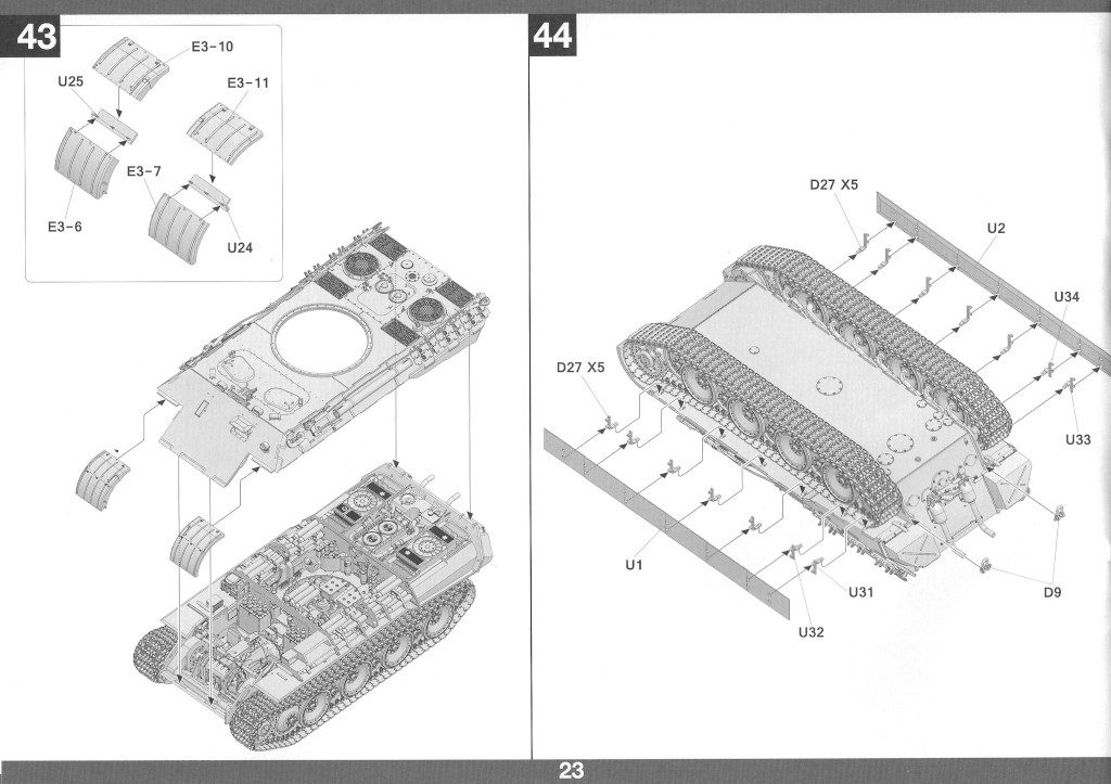 Anleitung24-1024x723 Panther Ausf. D Late Prod. Sd. Kfz. 171 w. Zimmerit Full Interior 1:35 Takom #2104