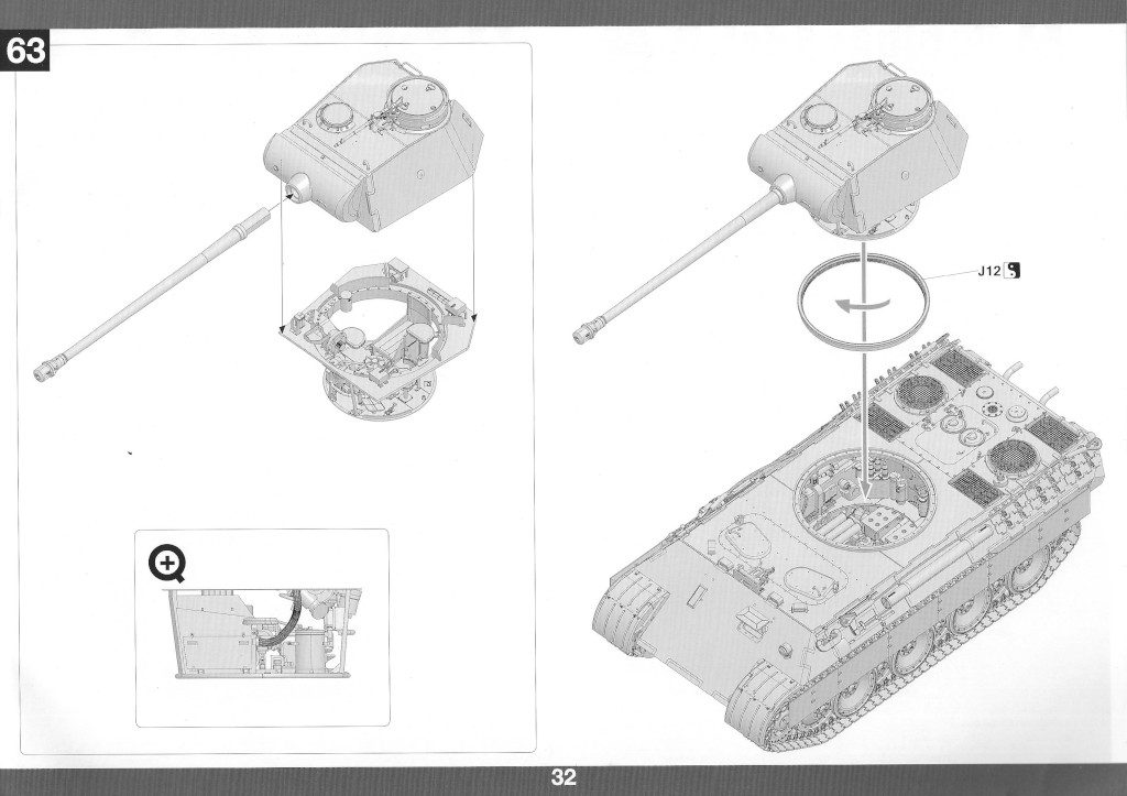 Anleitung33-1024x723 Panther Ausf. D Late Prod. Sd. Kfz. 171 w. Zimmerit Full Interior 1:35 Takom #2104