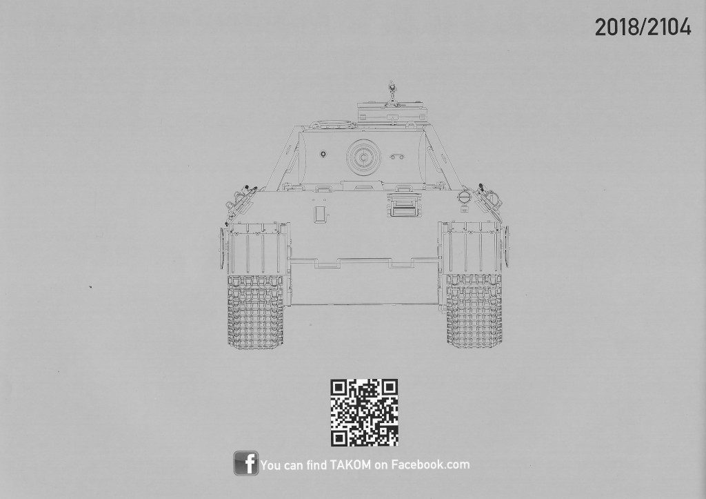Anleitung34-1024x723 Panther Ausf. D Late Prod. Sd. Kfz. 171 w. Zimmerit Full Interior 1:35 Takom #2104