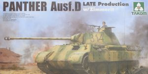 Panther Ausf. D Late Prod. Sd. Kfz. 171 w. Zimmerit Full Interior 1:35 Takom #2104