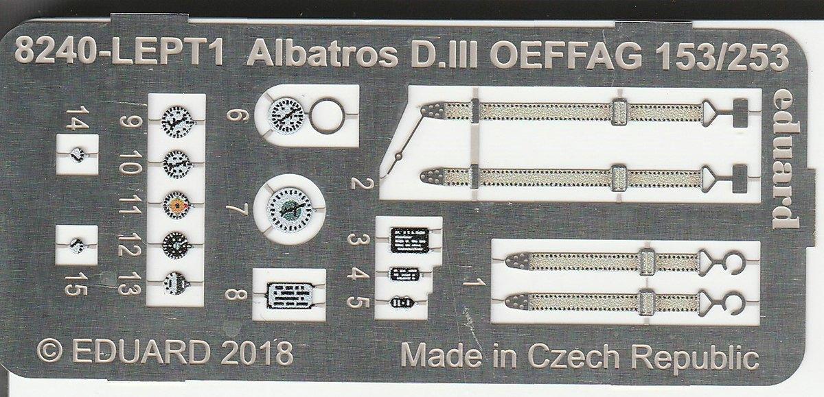Eduard-11124-Viribus-Unitis-17 Albatros D. III Oeffag Viribus Unitis in 1:48 von Eduard # 11124