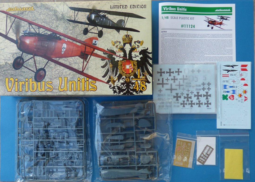 Eduard-11124-Viribus-Unitis-2 Albatros D. III Oeffag Viribus Unitis in 1:48 von Eduard # 11124