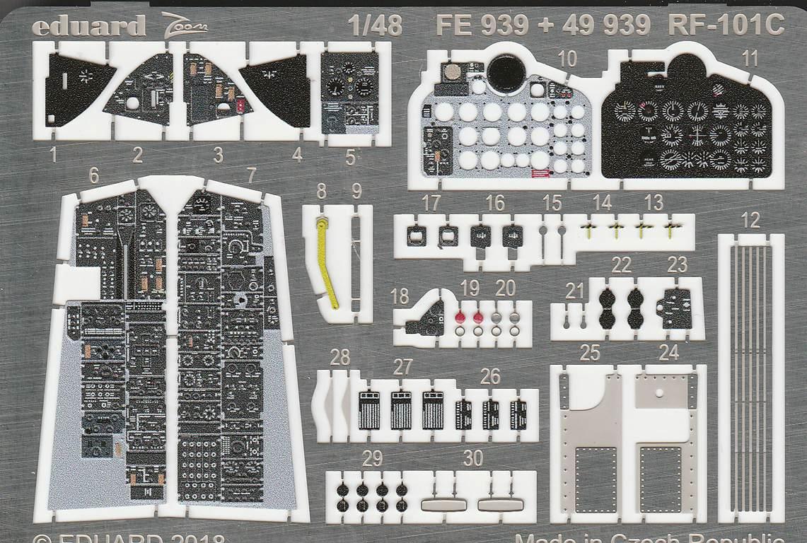 Eduard-49939-RF-101-Voodoo-Interior-1 Zubehör für die RF 101 Voodoo von Kitty Hawk 1:48 von EDUARD