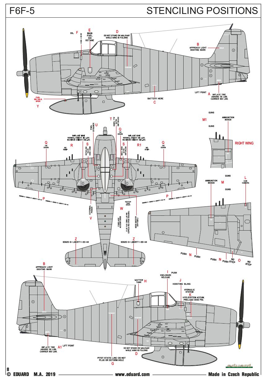 Eduard-7450-F6F-5-Hellcat-WEEKEND-Bauanleitung7 F-6F Hellcat in 1:72 von Eduard # 7450