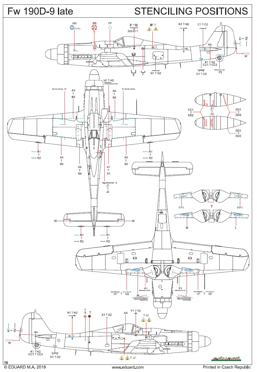 Eduard-8189-FW-190-D-9-Late-40 FW 190 D-9 Late im Maßstab 1:48 Eduard 8189