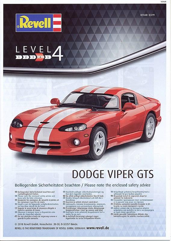 Revell-07040-Dodge-VIPER-GTS-24 Dodge Viper GTS im Maßstab 1:24 von Revell 07040