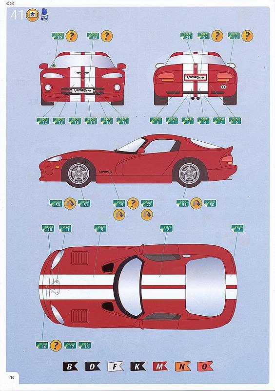 Revell-07040-Dodge-VIPER-GTS-31 Dodge Viper GTS im Maßstab 1:24 von Revell 07040