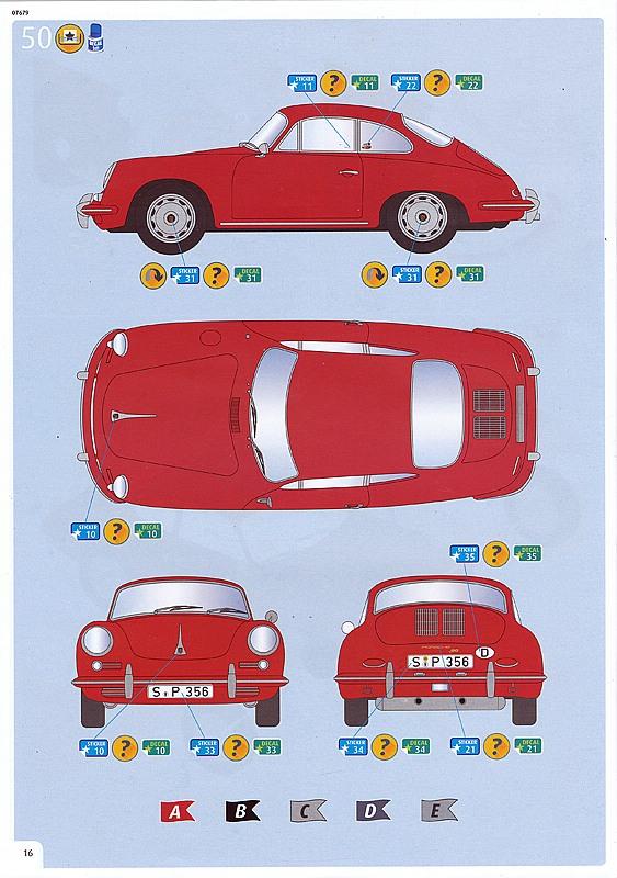 "Revell-07679-Porsche-356-B-Coupe-Reasy-Click-10 Porsche 356 B Coupe im Maßstab 1:16 als ""easy click""-Bausatz Revell 07679"