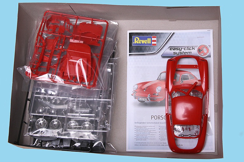 "Revell-07679-Porsche-356-B-Coupe-Reasy-Click-18 Porsche 356 B Coupe im Maßstab 1:16 als ""easy click""-Bausatz Revell 07679"