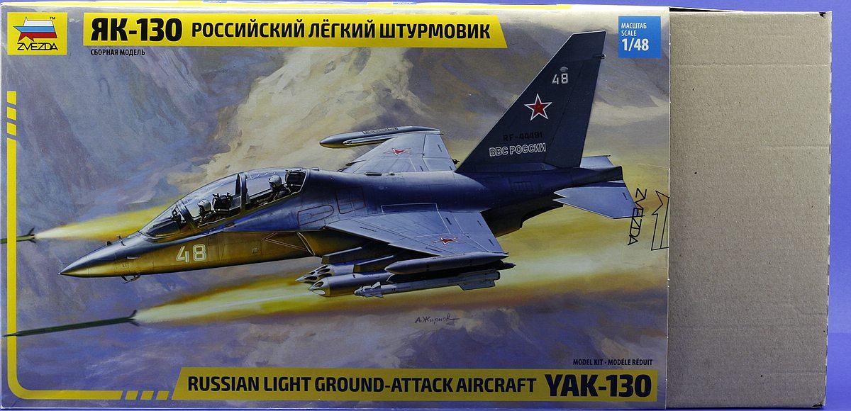 Zvezda-4821-Jak-130-Karton-3 Jakowlew Jak-130 ( Yak-130 ) in 1:48 von ZVEZDA # 4821