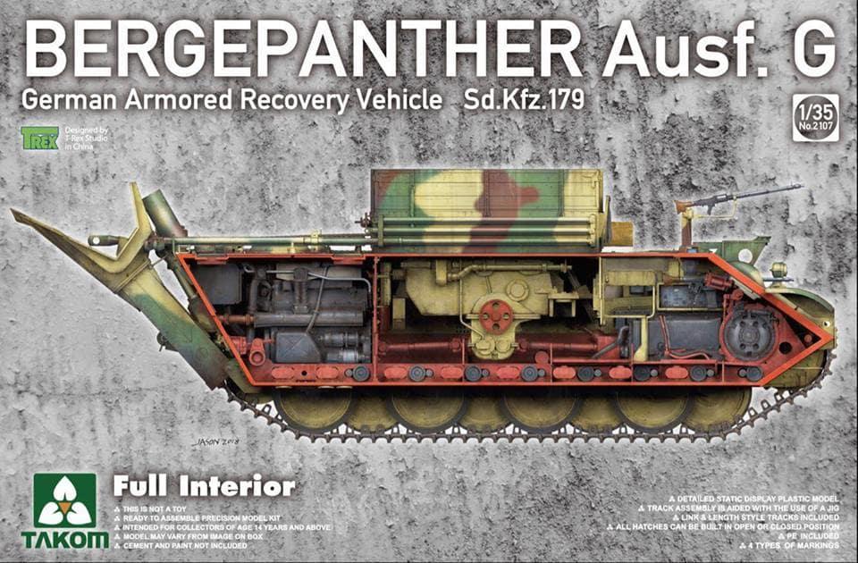 1170332-13385-41-pristine Panther Ausf. D Late Prod. Sd. Kfz. 171 w. Zimmerit Full Interior 1:35 Takom #2104