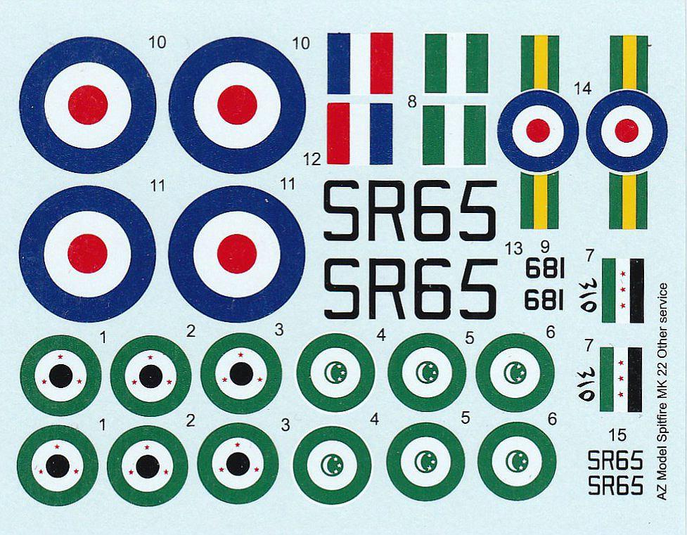 AZ-Model-7353-Spitfire-Mk.-22-3 Spitfire Mk. 22 im Maßstab 1:72 von AZ model # 7353