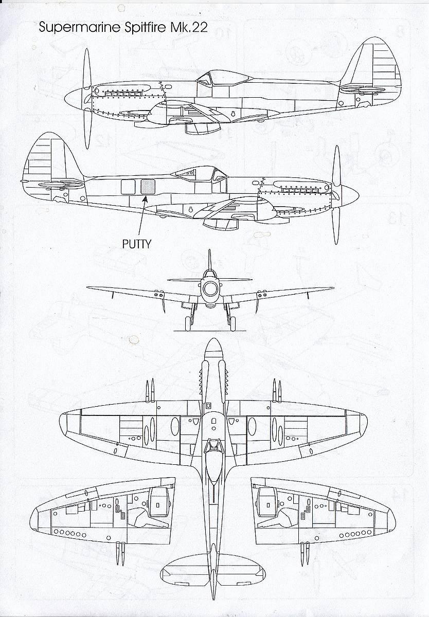 AZ-Model-7353-Spitfire-Mk.-22-6 Spitfire Mk. 22 im Maßstab 1:72 von AZ model # 7353