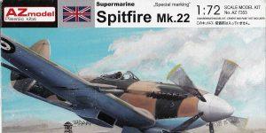 Spitfire Mk. 22 im Maßstab 1:72 von AZ model # 7353