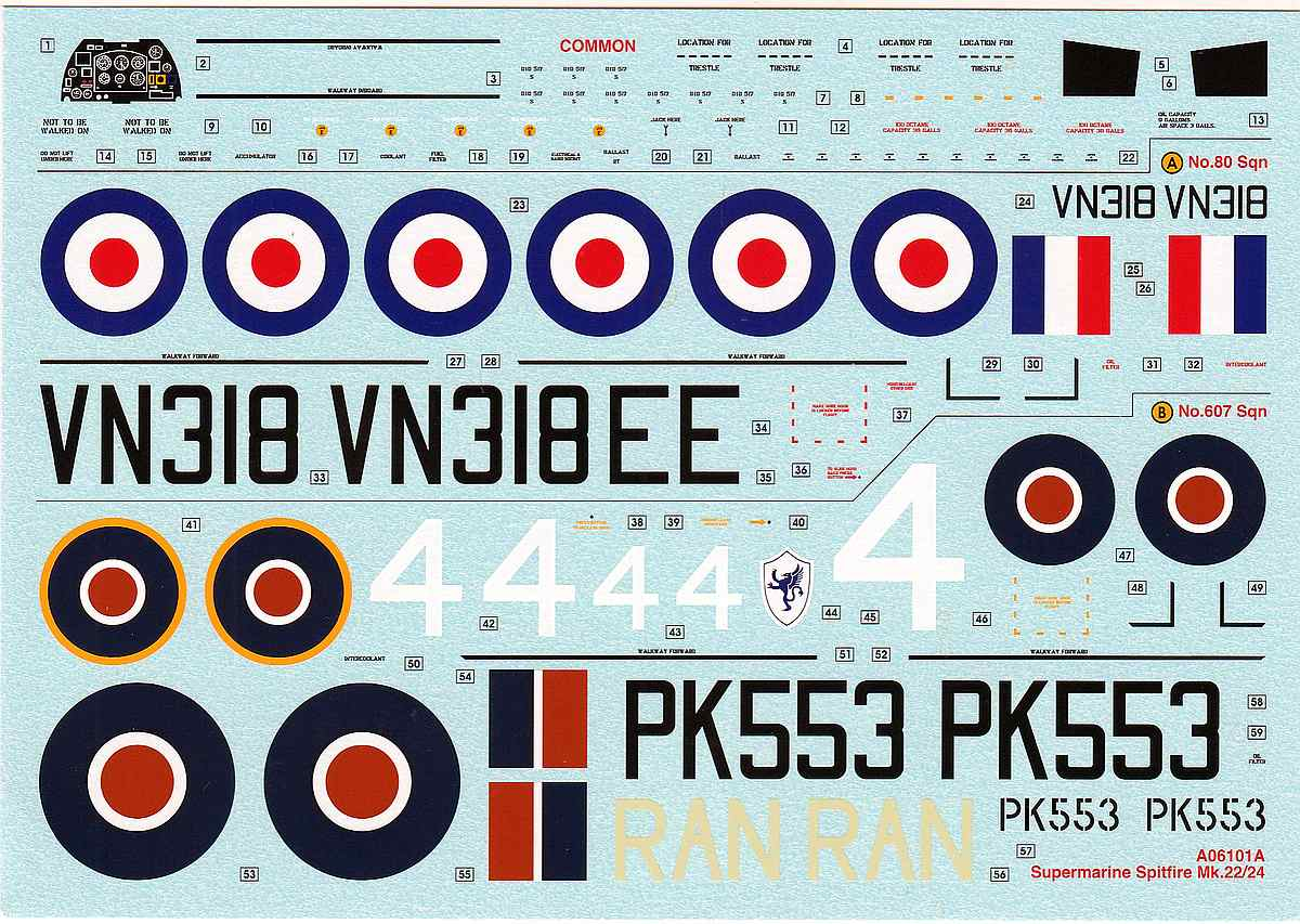 Airfix-A06101A-Spitfire-F.-Mk.-22-und-24-1 Spitfire F. Mk. 22/24 in 1.48 von Airfix A06101A