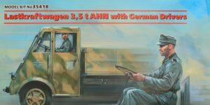 Lastkraftwagen 3.5 t AHN with German Drivers 1:35 ICM (#35418 )