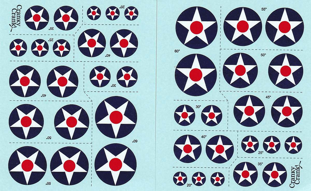 Cranky-Crank-US-Roundels-1zu72-2 US Roundels (early) in 1:72 von Cranky Crank Decals