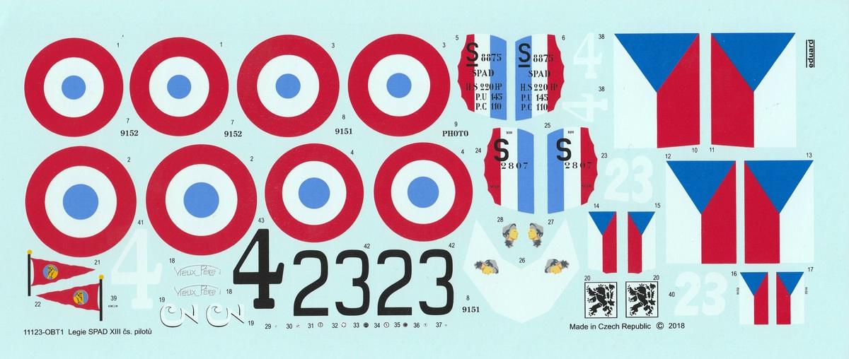 "Eduard-11123-Legie-SPAD-XIII-Cs.-pilotu-15 ""Legie"" - SPAD XIII Cs. pilotu in 1:48 von Eduard # 11123"