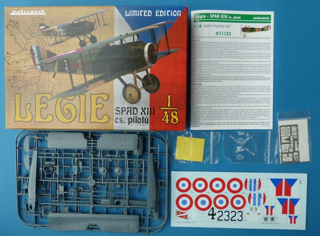 "Eduard-11123-Legie-SPAD-XIII-Cs.-pilotu-2 ""Legie"" - SPAD XIII Cs. pilotu in 1:48 von Eduard # 11123"