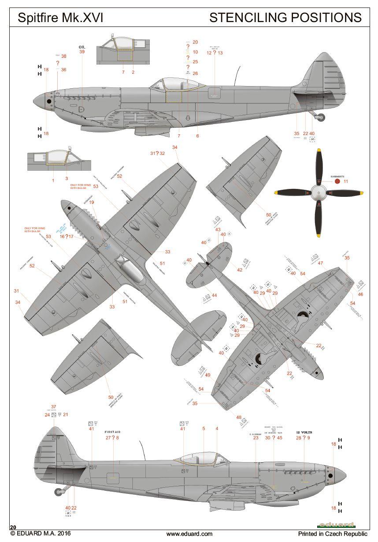 Eduard-2117-Spitfire-Mk.-XVI-Dual-Combo13 SUPERMARINE SPITFIRE Mk.XVI IN 1:72 ALS DUAL COMBO VON EDUARD #2117