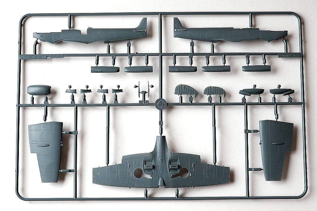 Eduard-217-Spitfire-Mk.-XVI-Dual-Combo-21 SUPERMARINE SPITFIRE Mk.XVI IN 1:72 ALS DUAL COMBO VON EDUARD #2117