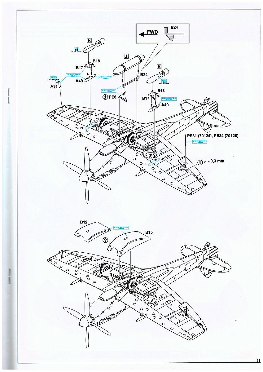 Eduard-217-Spitfire-Mk.-XVI-Dual-Combo-3 SUPERMARINE SPITFIRE Mk.XVI IN 1:72 ALS DUAL COMBO VON EDUARD #2117