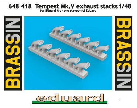 Eduard-648418-Tempest-Mk.-V-Exhaust-stacks Tempest Mk.V Brassin in 1:48 von Eduard #648418 #648420 #648421