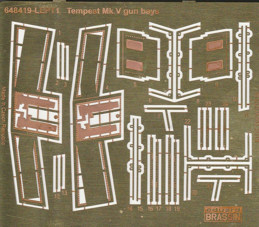 Eduard-648418-Tempest-Mk.-V-Gun-bays-10 Tempest Mk. V Gun bays und Ammo belts 20mm Hispano von Eduard # 648419