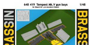 Tempest Mk. V Gun bays und Ammo belts 20mm Hispano von Eduard # 648419