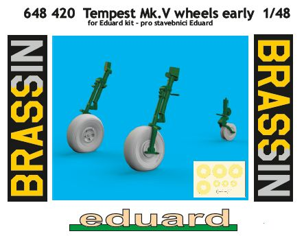 Eduard-648420-Tempest-Mk.-V-wheels-early-4 Tempest Mk.V Brassin in 1:48 von Eduard #648418 #648420 #648421