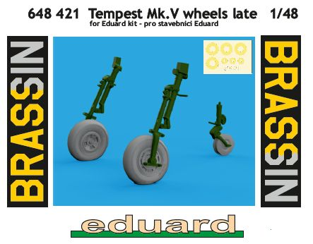 Eduard-648421-Tempest-Mk.-V-wheels-late Tempest Mk.V Brassin in 1:48 von Eduard #648418 #648420 #648421