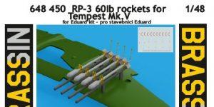 RP-3 60lb rockets for Tempest Mk. V von Eduard # 648450