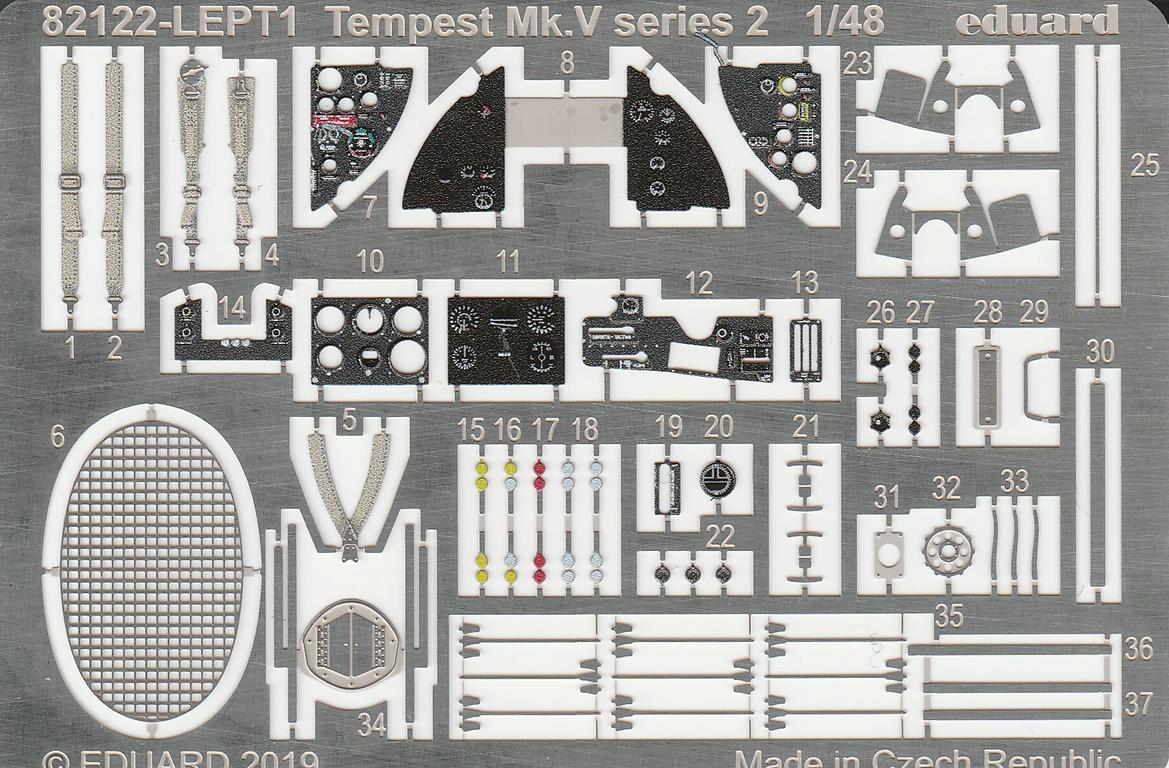 Eduard-82122-Tempest-Mk.-V-Series-2-13 Tempest Mk.V Series 2 Profi-Pack in 1:48 von Eduard #82122