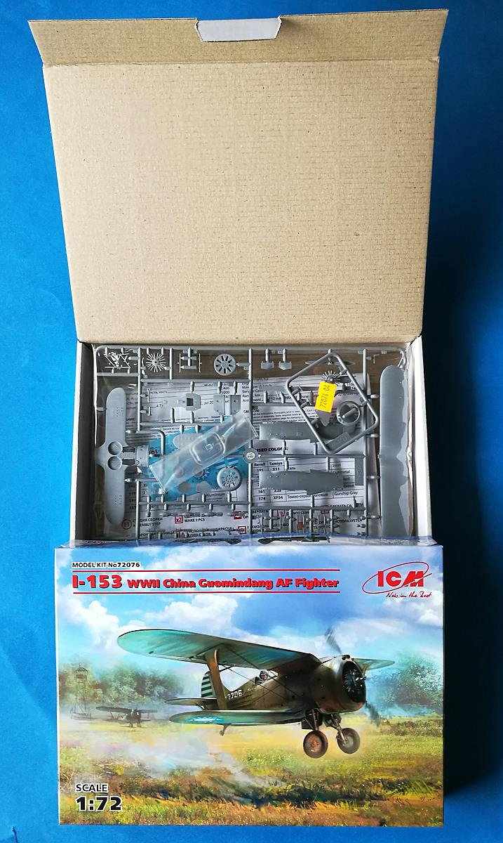 ICM-72076-Polikarpov-I-153-China-13 Polikarpow I-153 China Guomindang Fighter in 1:72 von ICM #72076