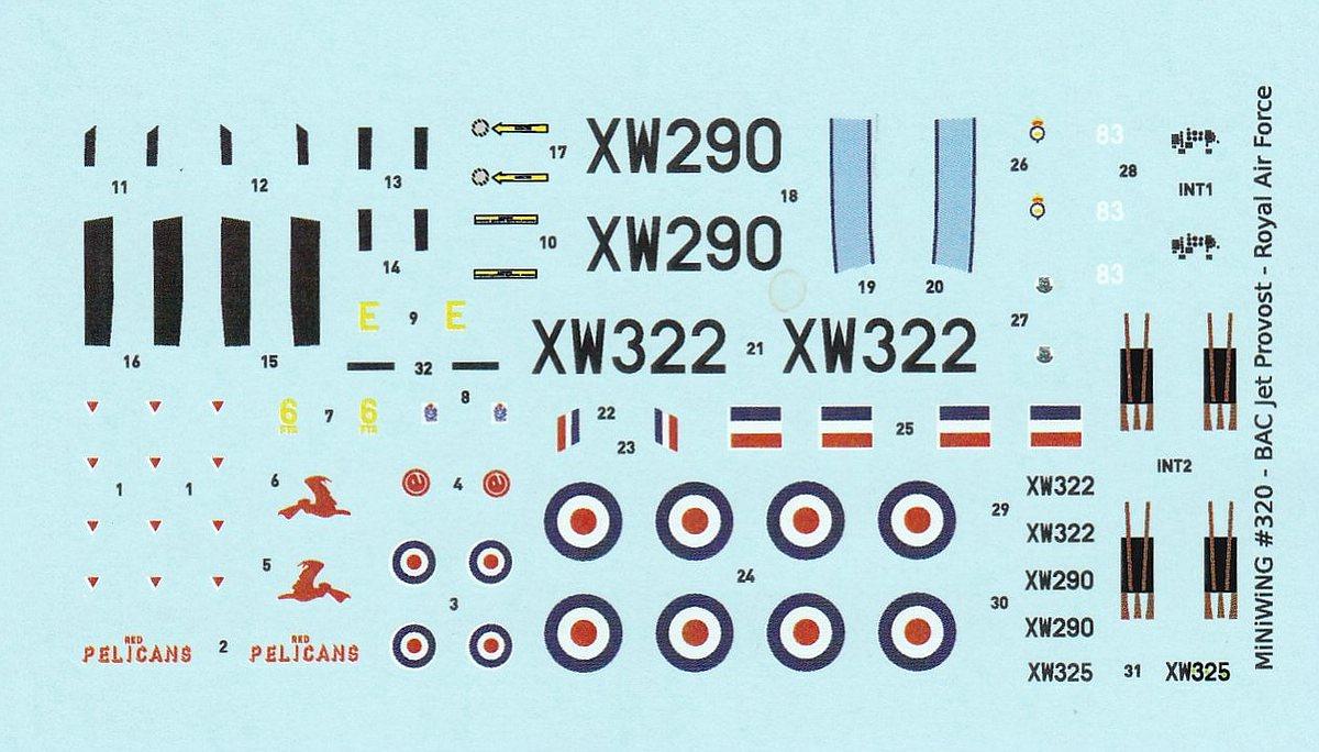 MiniWing-320-BAC-Jet-Provost-2 BAC Jet Provost T.5 in 1:144 von MiniWings # 320