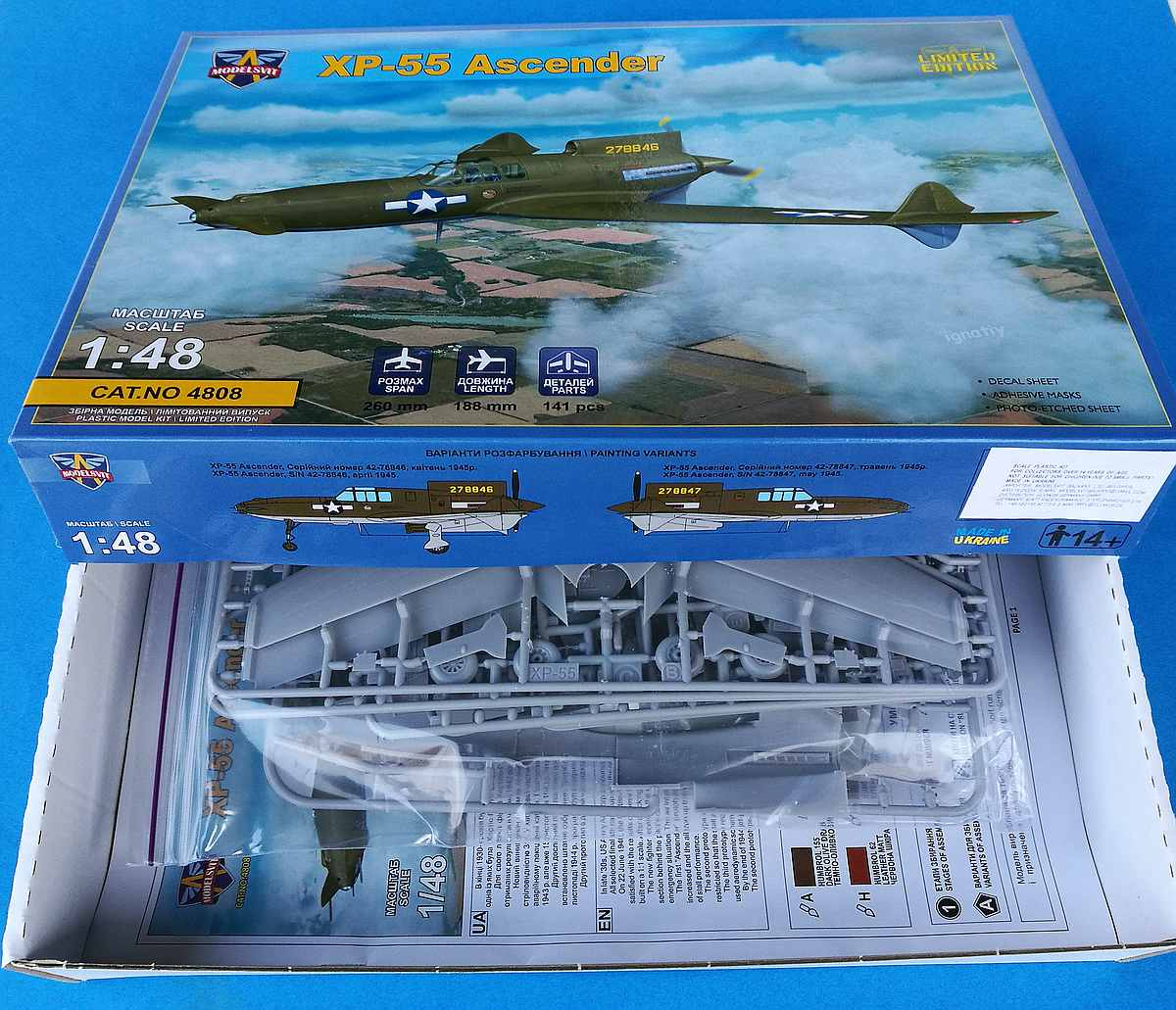 Modelsvit-4808-Curtiss-XP-55-Ascender-15 Curtiss XP-55 Ascender in 1:48 von Modelsvit # 4808