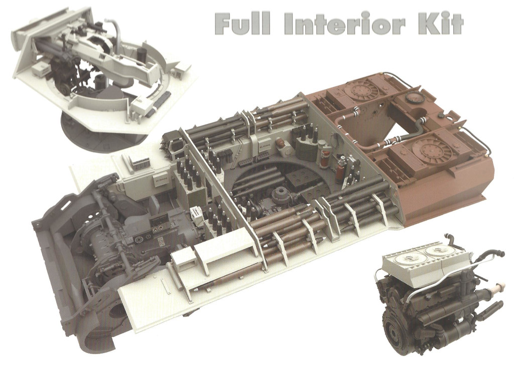 Panther-D-interior Panther Ausf. D Late Prod. Sd. Kfz. 171 w. Zimmerit Full Interior 1:35 Takom #2104