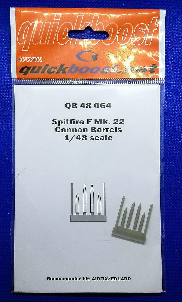 Quickboost-QB-48064Spitfire-F.-Mk.-22-Cannon-barrels-1 Zubehör die Spitfire Mk. 22/24 in 1:48 von Quickboost