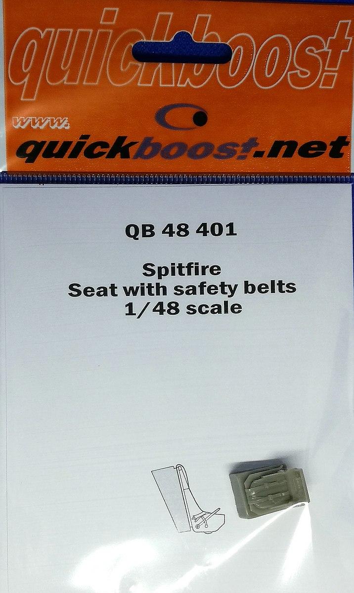 Quickboost-QB-48401-Spitfire-Seat-with-seatbelts-3 Zubehör die Spitfire Mk. 22/24 in 1:48 von Quickboost
