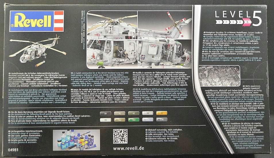 Revell-04981-Westland-Lynx-Mk.-8-12 Westland Lynx Mk. 8 im Maßstab 1:32 von Revell # 04981