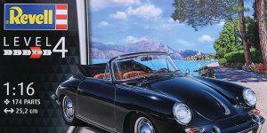 Porsche 356C Cabrio im Maßstab 1:16 von Revell # 07043