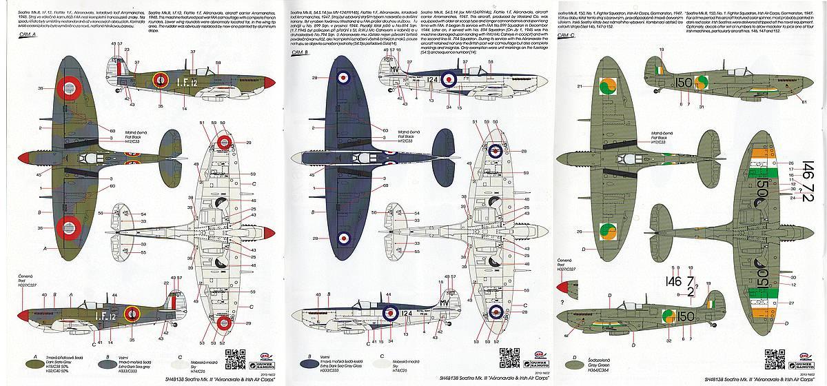Special-Hobby-SH-48138-Seafire-Mk.-III Supermarine Seafire Mk. III in 1:48 von Special Hobby #SH 48138