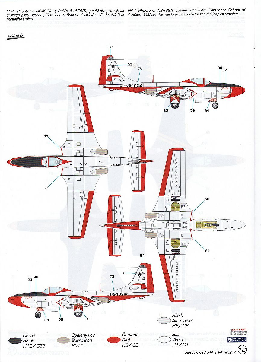 "Special-Hobby-SH-72297-FH-1-Phantom-28 FH-1 Phantom ""Demonstration Teams and Trainers"" in 1:72 von Special Hobby # SH 72297"