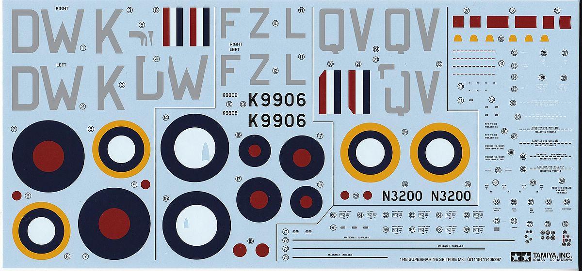 Tamiya-61119-Spitfire-Mk.-I-23 Spitfire Mk. I im Maßstab 1:48 von Tamiya 61119