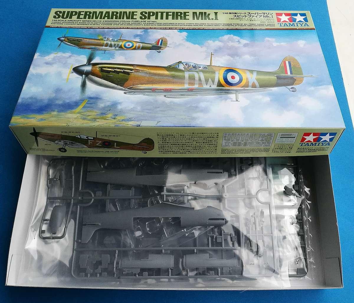 Tamiya-61119-Spitfire-Mk.-I-35 Spitfire Mk. I im Maßstab 1:48 von Tamiya 61119