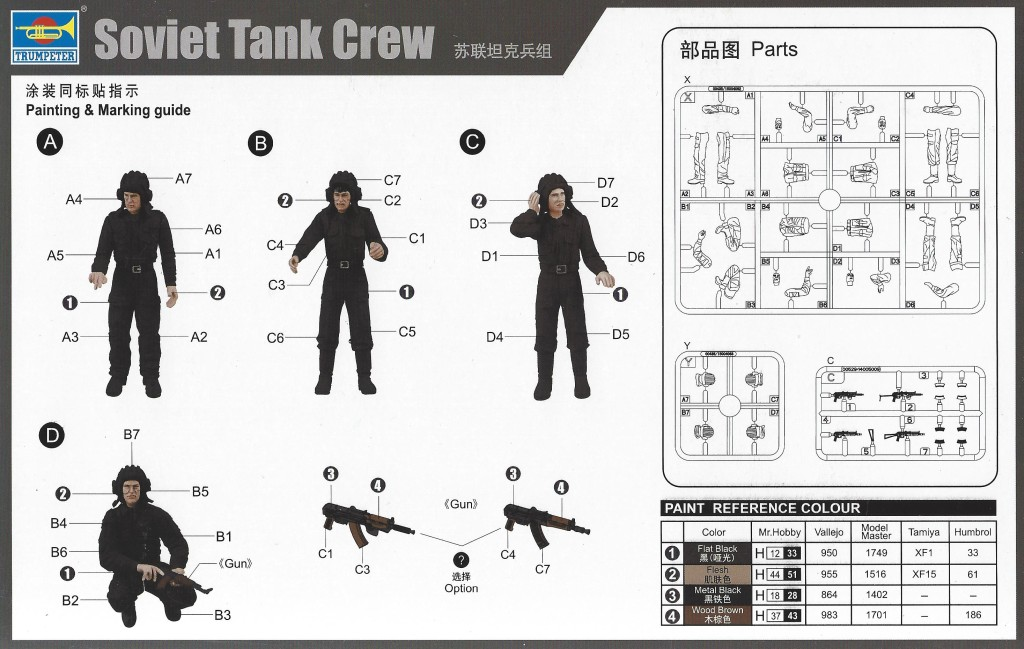 scan1544 Soviet Tank Crew 1:35 Trumpeter #00435