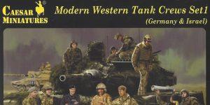 Modern Western Tank Crews Set 1 (Germany & Israel) 1:72 Caesar Miniatures #H102